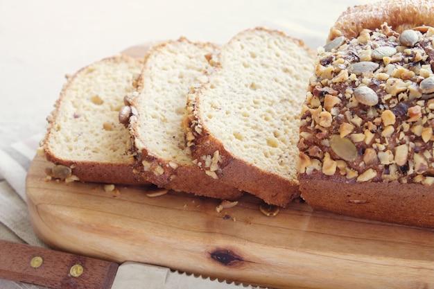 Pão de amêndoa sem glúten, dieta cetogênica