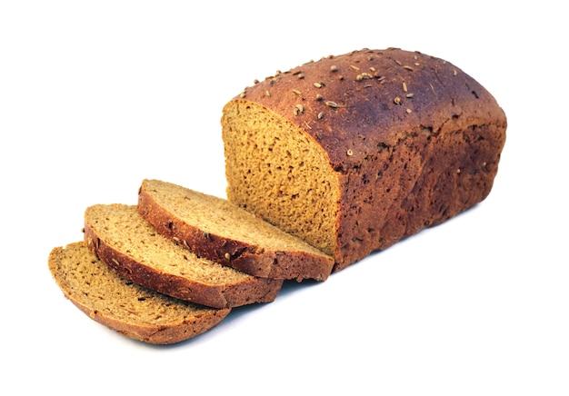 Pão de centeio com fatias
