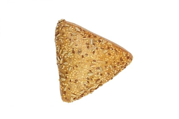 Pão de centeio polvilhado com sementes de girassol e linho