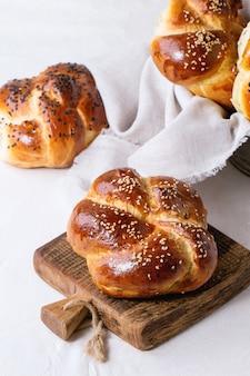 Pão de chalá redondo