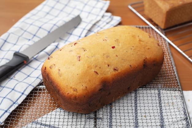 Pão de cranberry caseiro