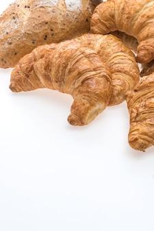 Pão de croissant de manteiga francesa e padaria