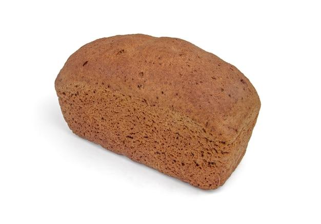 Pão de forma isolada no branco.