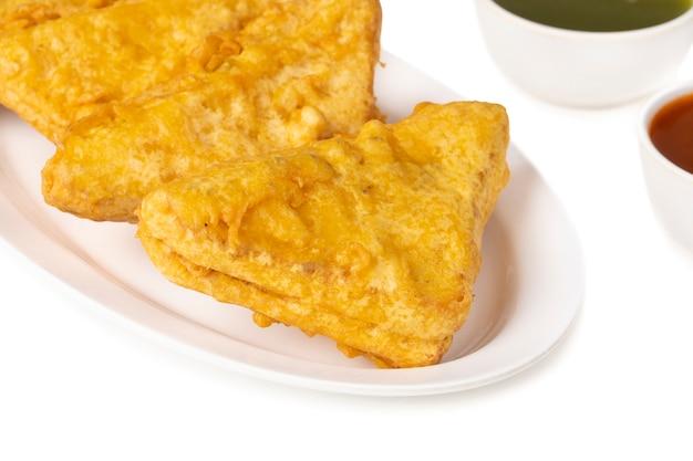 Pão de lanche popular indiano tempo pakoda