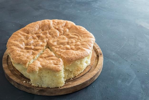 Pão de ló típico da itália e francês, bolo genovês.