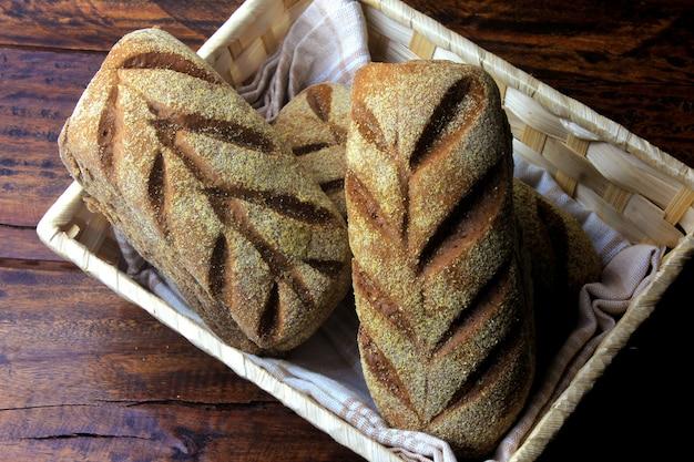 Pão de pão australiano na cesta