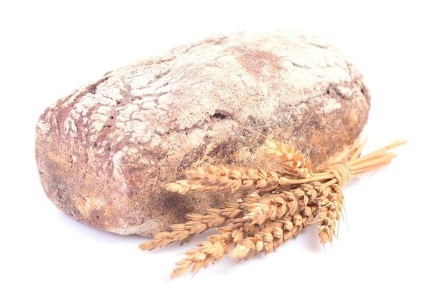 Pão em um fundo branco