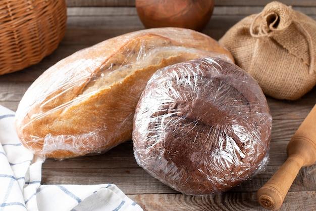 Pão embalado para congelar