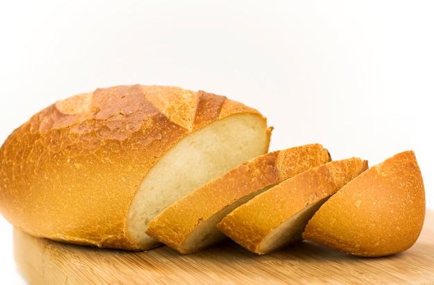 Pão fatiado branco