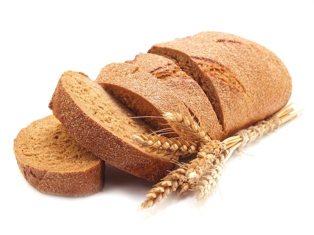 Pão fresco cortado em fatias