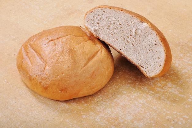 Pão natural, duas peças em panos