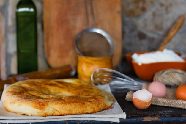 Pão pita turco tradicional