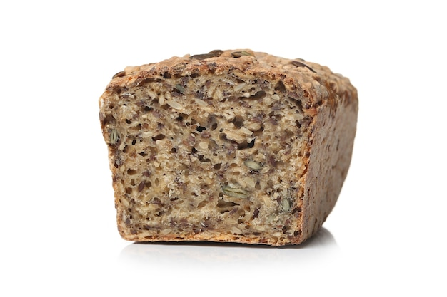 Pão saudável em uma superfície branca