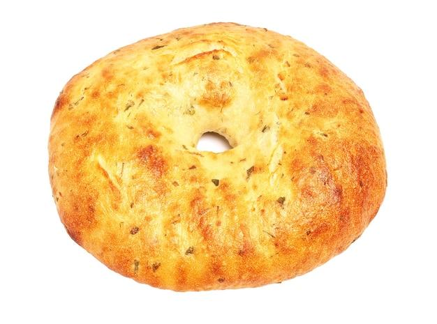 Pão sírio isolado no fundo branco