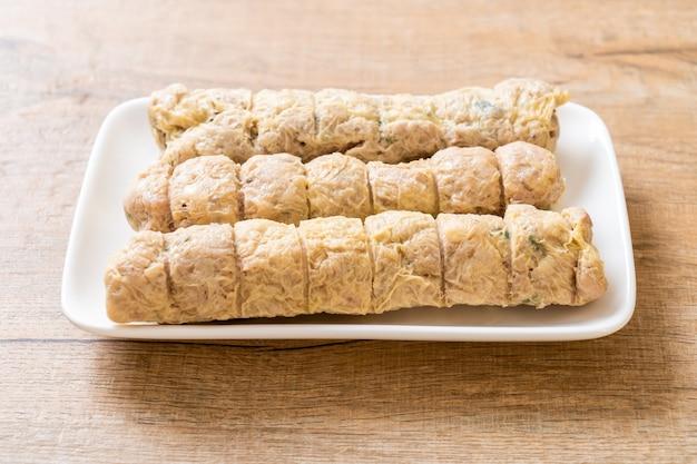 Pãozinho de caranguejo cozido no vapor - comida chinesa