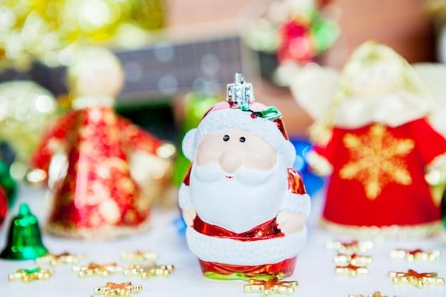 Papai noel e anjo decoração de brinquedo de natal