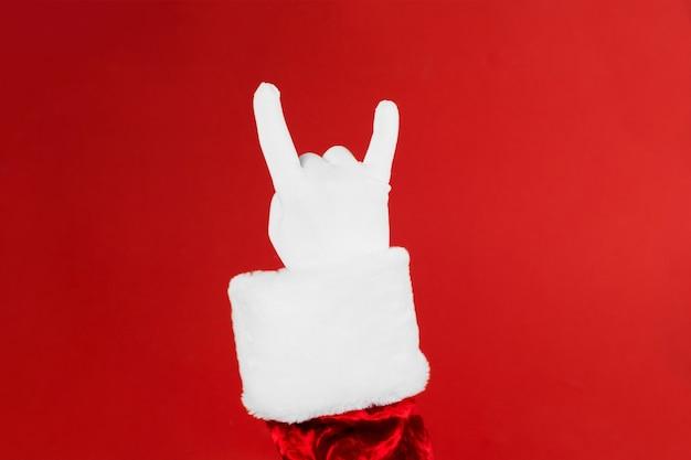 Papai noel mão rock n roll.