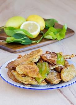 Paparajotes murcianas, prato típico de murcia, espanha