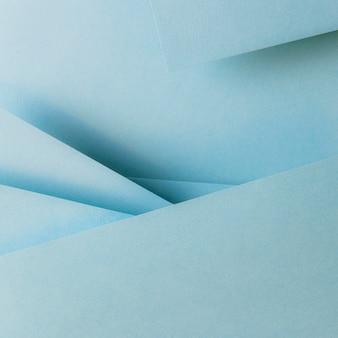 Papéis de cor azul composição de geometria banner fundo
