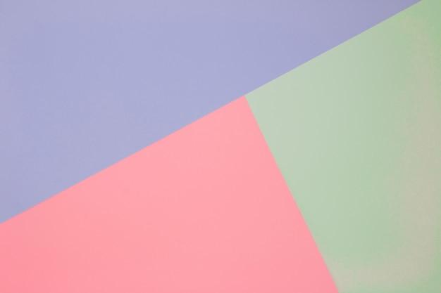 Papéis de cor geometria composição plana fundo tons pastel