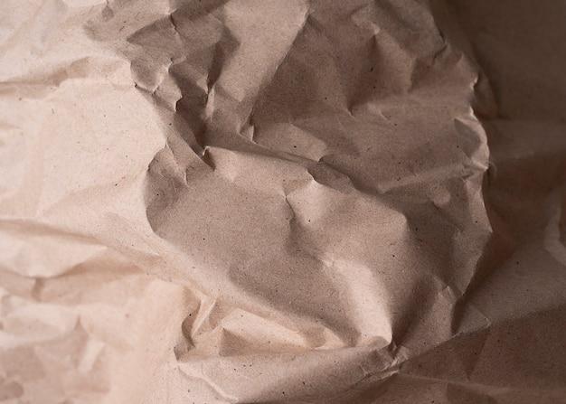 Papel amassado bege para pano de fundo em alta resolução para design