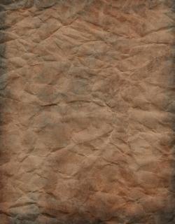 Papel amassado, marrom