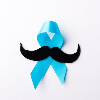 Papel bigode preto e fita azul claro