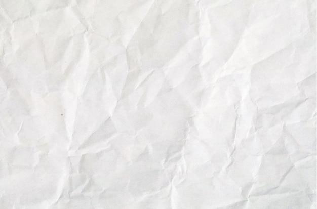 Papel branco amassado vintage