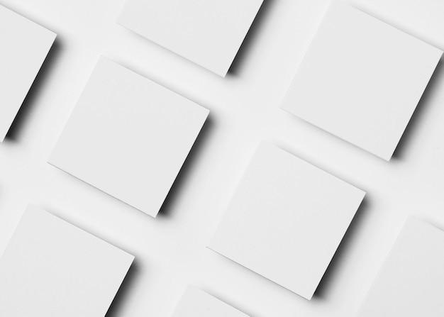 Papel branco minimalista e limpo para papelaria de escritório