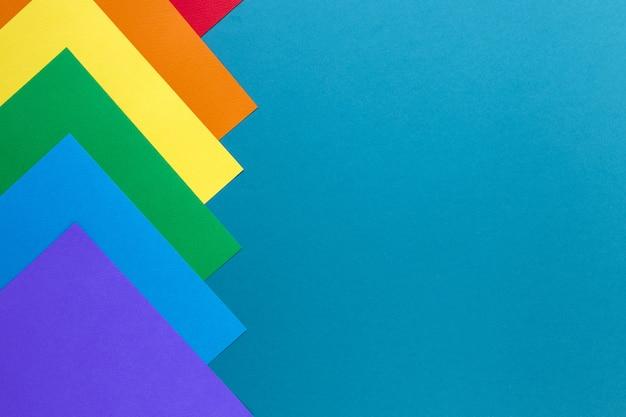 Papel colorido com cópia-espaço