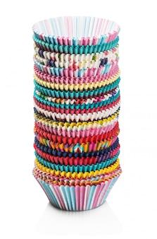 Papel colorido cupcakes