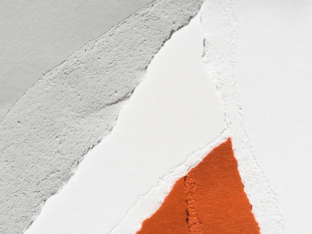 Papel colorido desfiado