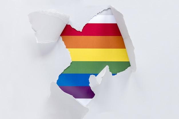 Papel com arco-íris