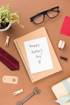 Papel com mensagem para o dia dos pais