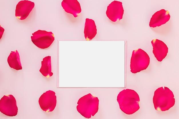 Papel com pétalas de rosa para dia dos namorados