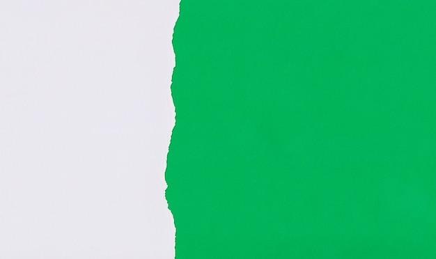 Papel de arte verde de sobreposição e rasgo para design.