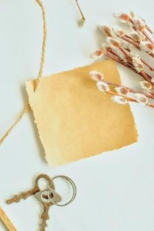 Papel de artesanato e salgueiro