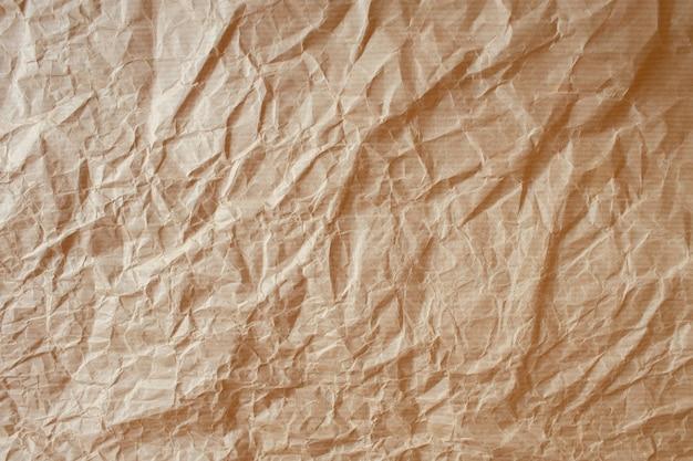 Papel de embrulho de artesanato amassado, textura