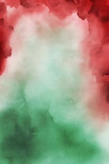 Papel de fundo aquarela vermelho e verde