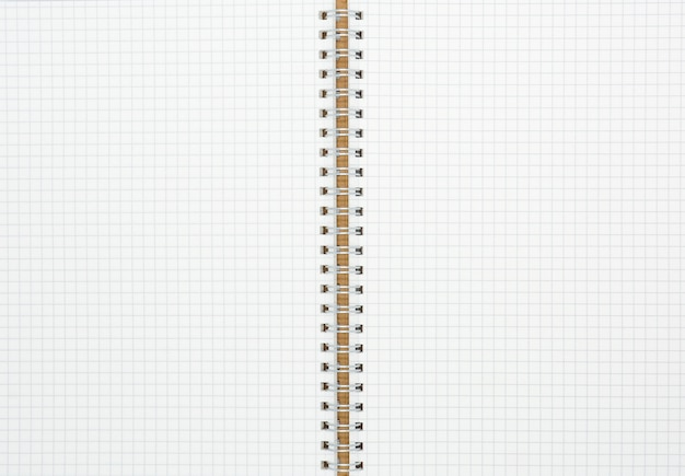 Papel de grade branco em um livro