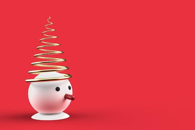Papel de parede 3d de cartão postal de natal com boneco de neve