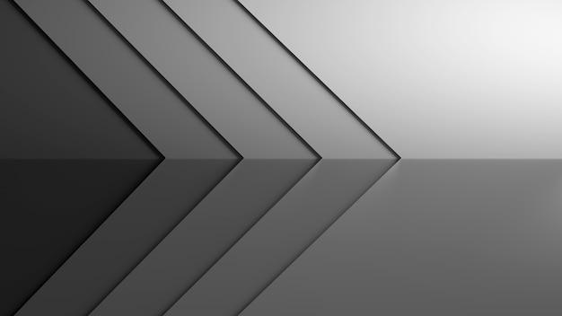 Papel de parede 3d tom de fundo preto e branco apontado para a direção certa cena 3d