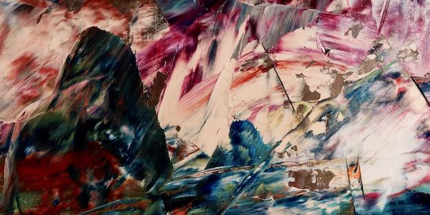 Papel de parede abstrato colorido. arte visual moderna motivo. misturas de tinta a óleo. lona de pintura na mão da moda. decoração da parede e arte da parede resumo de texture.colorful
