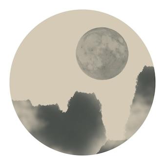 Papel de parede antigo zen névoa