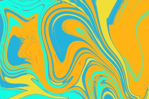 Papel de parede com cores fluidas formas coloridas brilhantes sobrepostas textura de mármore de mármore abstrato artístico