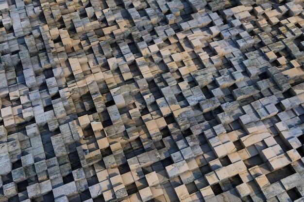 Papel de parede com cubos tridimensionais bacground abstrato