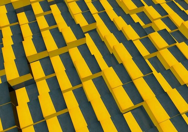 Papel de parede com cubos tridimensionais fundo abstrato