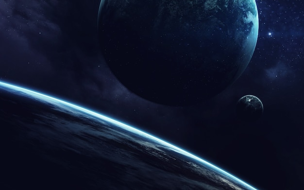 Papel de parede de arte cósmica e ficção científica