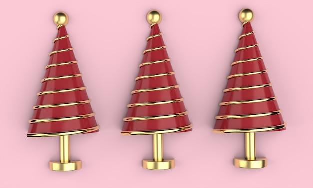 Papel de parede de cartão postal de natal 3d. conceito de feliz natal. ilustração 3d. renderização 3d