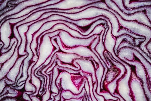 Papel de parede de close-up de repolho roxo